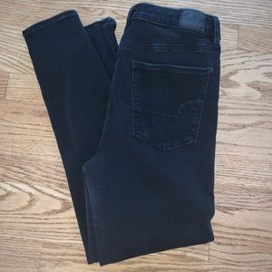 American eagle black size 12 short jeans